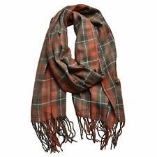 OrangeGreen Winter Warm Plaid Scarf Women Long Blanket Scarf Big Grid Shawl Wrap