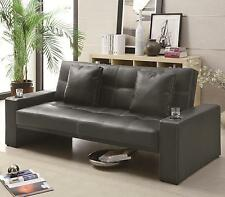 Coaster Furniture 300125 Sofa Bed Sleeper Black Leatherette Upholstery