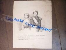 GRAVURE 1870 NAPOLEON BONAPARTE ET LA PRINCESSE MARIE LOUISE