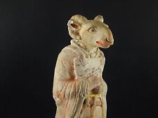 Antique Chinese Han Tang Mingqi 冥器 Zodiac Spirit Ghost Figure No Thermoluminence