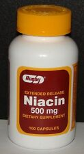 Rugby Niacin 500mg Extended Release Capsules 100ct -FREE WORLDWIDE SHIPPING-