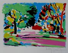 """VICTOR HASCH HASH """"GOLF DE MOUGINS"""" HAND SIGNED LIMITED EDITION LITHOGRAPH"""