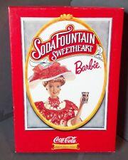 1996 Soda Fountain Sweetheart Barbie- First in Coca-Cola fashion Series-Coa