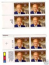 USA MNH PB4 AND ZIP CODE BLK4 EISENHOWER STAMPS  S-284