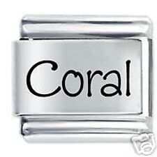 CORAL Name - Daisy Charm Fits Nomination Classic Size Italian Charms Bracelet