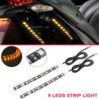 Motorcycle 9 SMD 5050 LED Strip Turn Signal Indicator Amber Blinker Light