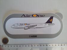 AUTOCOLLANT AIRBUS A320 AIR ONE AIRLINES STICKER AUFKLEBER ALITALIA ITALIE DECAL