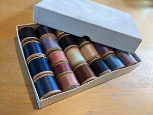 Vintage Box Dewhursts Sylko Wooden Spools / Bobbins / 25 / Sewing / Rare Job Lot