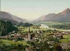 Tirol. Plätzwiesen und Hotel. PZ vintage photochromie, photochrom photochromie