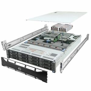DELL PowerEdge R720xd Server 2x E5-2690 2.90Ghz 16-Core 48GB H710 Rails