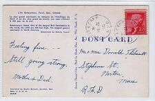 Canada picture postcard with GASPE & CAMP R.P.O. postmark (C22752)