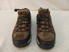 Men's Bear Paw Brown Orange Authentic Leather 8 Corded Slip Hiking Shoes 34500