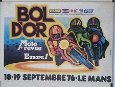 Affiche originale Bol d'or 1976 Le Mans moto