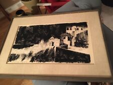 Vintage Psi-Fi art artist Illustrator DEAN ELLIS original Ink DRAWING painting