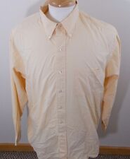 Brooks Brothers Mens XL 17/5 Orange White Check Long Dress Sleeve Shirt