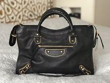 Balenciaga City Black Bag with Gold Hardware In Excellent Condition