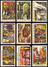1959 Topps Bubbles You'll Die Laughing PARTIAL CARD SET 29/66 first Monster Set