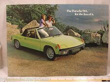 The Porsche 914 for the fun of it - Original brochure - 914 and 914S - 1973
