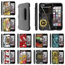 For Apple iPhone Case Rugged Hybrid Holster Belt Clip Gambling Cards Casino
