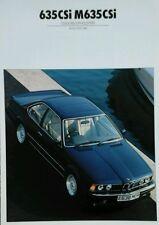 BMW 635CSi M635CSi Color & Tapicería guía de febrero de 1987