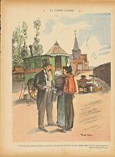 More details for ricardo flores. colour print ( travelling doctor )  le rire 1910