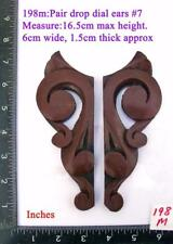 "TITLE: 198M ""Pair Clock Ears"" pattern#7 fusee / wall clock case"