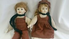 Schmid Doll House His Her Twins Musical Dolls EDELWEISS & THE WAY WE WERE