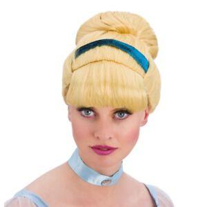 Adult Blonde Sweet Cinders Cinderella Wig New Fancy Dress Ladies Women Female