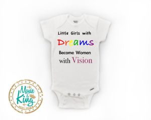 Little Girl with Big Dreams baby Onesie-Baby Gift-Shower-Newborn gift- rainbow