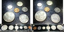 1958 Canada silver and copper set -six coin set