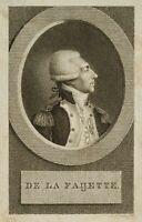 """L. A. CLAESSENS (*1763),  """"De La Faijette."""", 1770-1850, Kupferstich"""