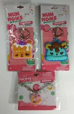 Set of 3: NUM NOMS SCENTED KEYCHAINS & NECKLACE: Blueberry, Mint, Birthday cake