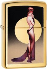 Zippo 2018 Olivia De Berardinis Pin-up Model High Polish Brass Lighter 29583 NEW