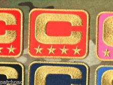 2015 SUPER BOWL DENVER BRONCOS CAPTAINS ORANGE GOLD-FOUR-STAR 4-STAR C-PATCH