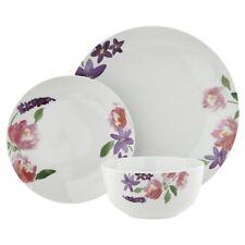 12pc Dinner Set Porcelain Dishwasher Safe Bowls Plates Side Plates