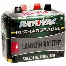 Two New Rayovac 6V Batteries & One Rayovac 6 & 12 volt Charger for Game Feeder
