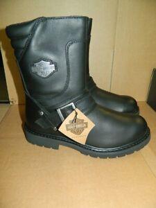 Harley-Davidson Stiefel Boots schwarz Leder Herren Gr. 42   95194 Booker Neu