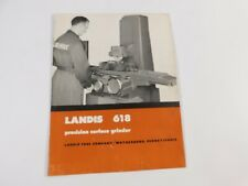 Vintage 1961 Landis 618 Precision Universal Grinders Catalog Brochure
