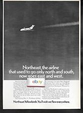 NORTHEAST AIRLINES 1969 USED TO BE NORTH-SOUTH NOW EAST-WEST AIRLINE DC-9 AD