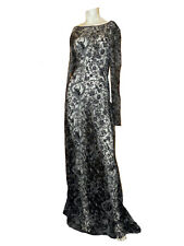 NWT TADASHI SHOJI See Through BLACK and WHITE embroidered lace mermaid DRESS - 2
