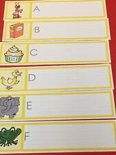 Montessori style - Pre-Reading Tracing Alphabets Wipe Writer Laminated set