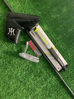 Miura KM-009 White Chrome Putter KBS CT Tour Matte Black Shaft Uncut HC Inc