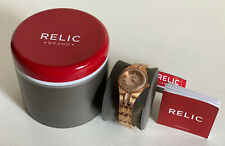NEW! RELIC CRYSTALS-ACCENTED BEZEL ROSE GOLD BRACELET WATCH ZR11962 $105 SALE