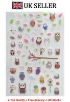 Owl birds heart leaves Kids Art Decor Mural Decal Wall Stickers bird Nursery