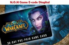 WOW Game Time 30 days - Includes BFA and Classic US