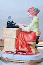 Vintage Secretary Typing Typewriter Porcelain Wind Up Music Box Msr Imports 1981