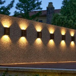 6-1XSuper Bright LED Solar Powered Wall Light Door Fence Outdoor Garden Lighting