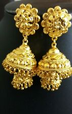 22k  gold plated  high Large Earrings jumki style