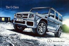 Mercedes Benz G Class 06 / 2013  catalogue brochure English Int'l