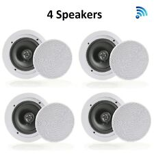 Pyle Dual 8'' Bluetooth Ceiling/Wall, 2-Way Flush Mount Speakers ( 4 Quantity)